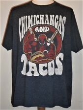 Marvel DEADPOOL Chimichangas and Tacos T-shirt, XL