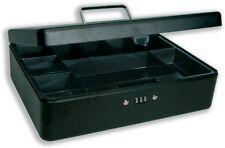 "Premium 12"" Cash Box Combination Lock  - Petty Cash Tin, Money Box Safe by Helix"