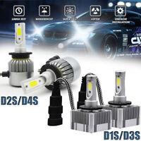2Pcs 110W 26000LM COB LED faro de coche D1S D2S D3S D4S Bulbo 12V Lámpara 6000K