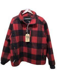 Filson Mackinaw Wool Field Jacket Buffalo Plaid Men's XL USA Made