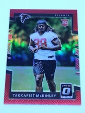 2017 Panini Optic Takkarist McKinley Rookie RED Prizm /99 Atlanta Falcons #150