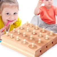 Wooden Toys Montessori Educational Cylinder Socket Blocks Toy Baby Toys