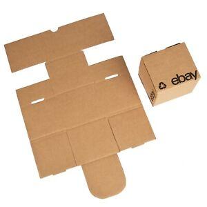 """4"""" x 4"""" x 4"""" Flat Folding Boxes – Black Logo"""