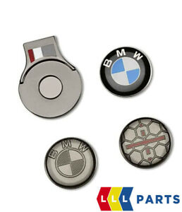 NEW GENUINE BMW GOLFSPORT BALL MARKER SET WITH MAGNETIC CAP CLIP 80282460958