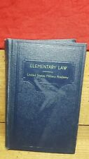 Elementary Law-Second U.S.M.A. Edition 1956~United States Military Academy