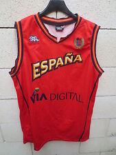 Maillot basket ESPAGNE ESPANA camiseta John Smith FEB jersey shirt rouge XL