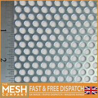 Mild Steel (5mm Hole x 8mm Pitch x 1mm Thick) Perforated Mesh Sheet Plate