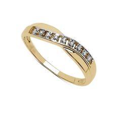 Anniversary Round Sterling Silver Fine Diamond Rings