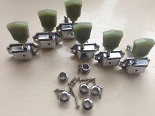 Kluson style Vintage Jade Tulip Strat/Tele 3L3R Machine Heads in Chromed Nickel