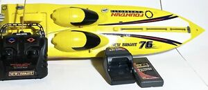 """New Bright - Fountain Powerboat 76 - RC, RADIO CONTROLLED SPEEDBOAT - 23.5"""""""