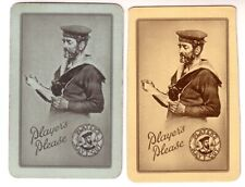 Pair Vintage Players Navy Cut Cigarette Advertisement Linen Swap Playing Cards