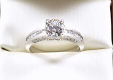 2.00TCW Round Brilliant Cut 14k Solid White Gold engagement  Ring