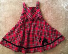 Christmas Dress Girls Size 18 Mo. Red Plaid With Dog