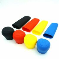 1set Manual Car Hand Brake Case Silicone Gear Head Shift Knob Cover Black 8U