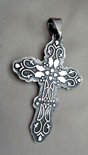 Cii Artist Signed Mexican Sterling Cross
