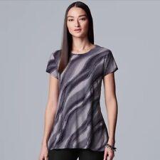 NEW Simply Vera Wang Women's Purple Textured Tunic Top Blouse Size XL