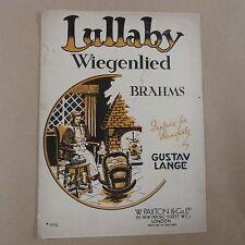 PIANOFORTE Brahms Lullaby-Wiegenlied, Gustav Lange