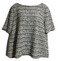 LOFT OUTLET Designer Jumper Sweater Top Speckle Fleck Crop Tunic Autumn UK 16 L