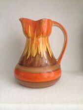 Vintage Wadeheath Art Deco Vibrant Orange Glaze Jug