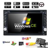 "6.2"" 2DIN Car CD DVD Player Bluetooth Touch Screen Stereo Radio GPS Navi +Camera"