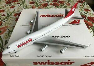 Swissair B-747-300 (HB-IGC) Modell, 1:200, Inflight200