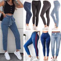 Women Denim Jeans Elastic High Waist Stretch Jeggings Clubwear Trousers Pants