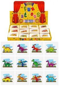 12x Mini Dinosaur Temporary Tattoos Boys Girls Party Bag & Stocking Fillers UK