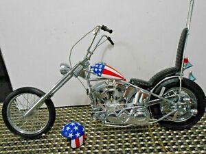 "Franklin Mint 1:10 Easy Rider Chopper Harley Davidson ""Captain America"""
