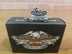 Harley Davidson Pewter Mini Train Retro Bike Motorcycle Box Car 96882-05V 1504