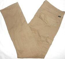 36x32 Lucky Brand STRETCH Athletic Fit Cargo Pants Men's Flex Canvas Tan