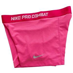 Nike Pro Combat Pink Core Tight Compression Dri Fit Womens Shorts • Medium M