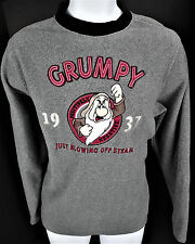 Small Disney Fleece Pullover Grumpy 1937 Positively Negative Blowing Off Steam