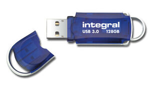 Integral 128GB USB 3.0 Flash Drive Superspeed USB Pen Drive Courier Memory Stick