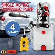 12 Volts 12V 4L Pompe Hydraulique Groupe Unité De Puissance Levage