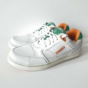 Sperry X Rowing Blazers Top Sider Cloud Cup Sneakers Shoes Green Orange - Size 9
