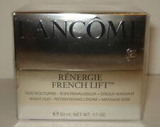 Lancome Renergie French Lift  Night Duo Retightening Cream 1.7 oz/50 ml Sealed