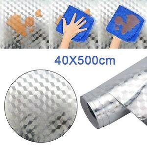 5m Aluminum Self-adhesive kitchen Foil Paper Wallpaper Waterproof and Oil Proof