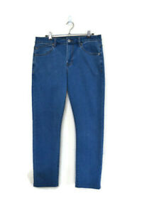 """RIDERS BY LEE Mens R1 Skinny Jeans Light Blue Stretch Denim Jeans - Size 32"""""""
