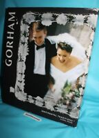 Gorham Sentimental Traditions Floral Crystal Glass Picture Photo Frame 8x10