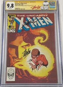 Marvel Uncanny X-men #174 Signed Stan Lee & Chris Claremont CGC 9.8 SS Red Label