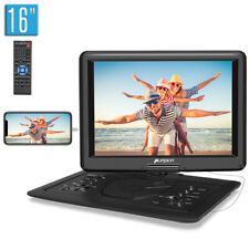 """16"""" Portable DVD Player Car Monitor TFT HD Screen HDMI-in AV-in/out USB SD Video"""