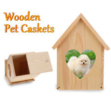 Pet  Wooden Cat Dog Personal Cremation Ashes Urn Ash Coffin Box   !!