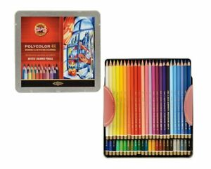 48 Polycolor Artist Pencils Finest Quality From Koh-I-Noor - Metal Box Ge