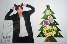 U-KISS Fan Club Event 2015 Japan Official Photo & Sticker Set Christmas Hoon
