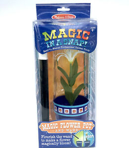 Melissa and Doug Magic Flower Pot w Wand Easy Trick NEW Sealed Kids Magician Toy