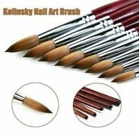 Professional Kolinsky Acrylic Nail Art Brush Manicure Powder Wooden Handle Tool
