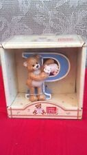 "New In Box Gotta Getta Gund Blue Letter P ""Thinking Of You"" Teddy Bear With Pig"