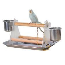 Pet Bird Budgie Parrot Table Top Play Stand Rack Cage Playground Perch Platform