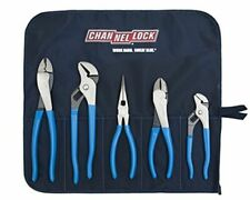Channellock Tool Roll 2 Technicians Plier Set 5 Piece Set
