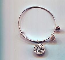Alex & Ani silver let creativity rule bracelet